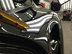 Dellenentfernung Porsche Kotflügel hinten links 2
