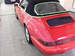Porsche Fahrzeugpflege Lack stumpf vorher nachher Effekt 2
